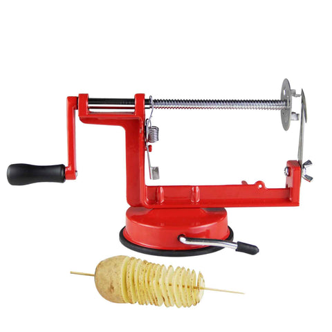 Manual Spiral Fruit Potato Apple Slicer Stainless Steel Fry Cutter