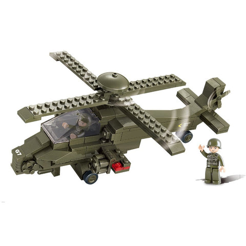 US Army Military Building Blocks Hind Helicopter Educational Bricks Toy Fits LEGO