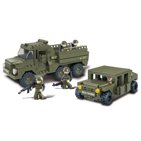 US Army Personnel Truck & Armored Vehicle Building Blocks Toy Fits LEGO