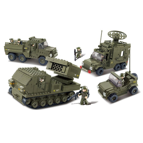 US Army Personnel Carriers & Prowl Car Building Blocks Military Set