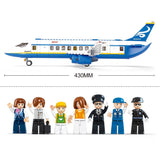 Building Block Plane City Airport Cargo Terminal Educational Toy Fits LEGO
