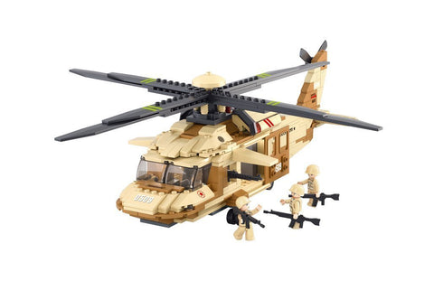 US Army Black Hawk Helicopter Building Blocks Educational Bricks Toy Fits LEGO