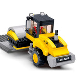 Sluban Building Blocks Pavement Roller Bricks Toy Fits LEGO