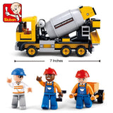 Sluban Building Blocks Cement Mixer Truck Bricks Toy Fits LEGO