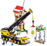 Sluban Building Blocks Crane Truck Bricks Toy Fits LEGO
