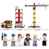 Sluban Building Blocks Construction Tower Crane Toy Fits LEGO