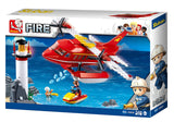 Sluban Flying Boat Firefighting Series Blocks Toy Fits LEGO