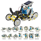 14 in 1 Solar Robot Assembly Kids Toys Rechargeable Gift Kit