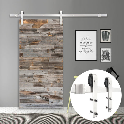 6.6 FT Stainless Steel Barn Door Hardware Set