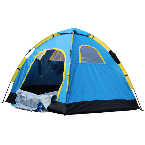 Large 6 Person Hiking Camping Tent Waterproof w/2 doors & 4 windows
