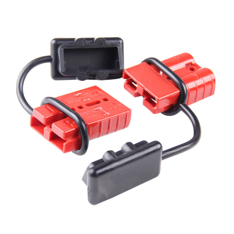 Universal 6-10 AWG 120A Battery Connect Quick Connector Plug For 12V Winch Trailer Driver