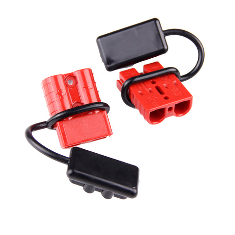 AURELIO TECH Universal 6-10 AWG 120A Battery Connect Quick Connector Plug for 12V Winch Trailer Driver Electrical Devices