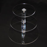 PENSON & CO. 3-7 Tier Crystal Acrylic Round Cupcake Stand Wedding Birthday Display Cake Tower