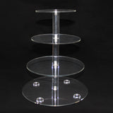 4 Tier Cupcake Stand Crystal Acrylic Round Wedding Birthday Cake Tower