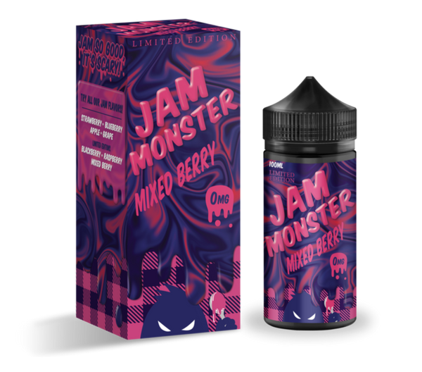 MIXED BERRY (100ML) LIMITED EDITION - JAM MONSTER, JUICES - US, JAM MONSTER - Ace Vape Melbourne