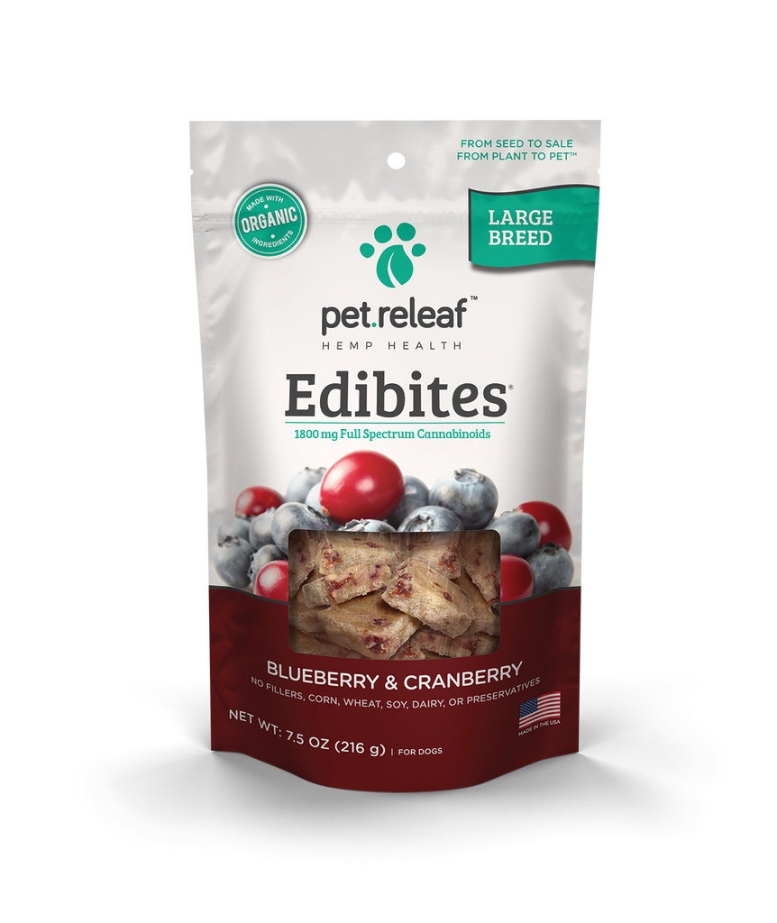 CBD Dog Treats – Hemp Oil Edibites with Blueberry Cranberry Edibites