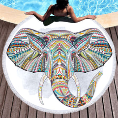 Colorful Elephant Winter Blanket or Beach Towel