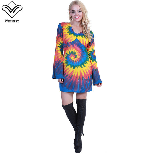 Tie Dye Long Sleeve V-Neck Shirt