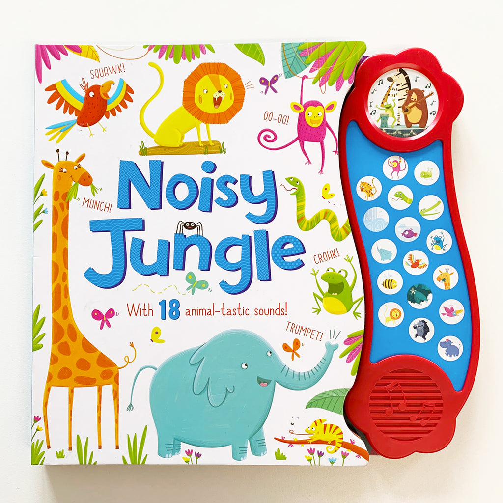 Noisy Jungle Sound book Hardback - Children Store Co.