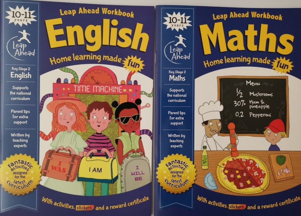 Leap ahead Maths and English Ages 10-11 (2 book set) - Children Store Co.