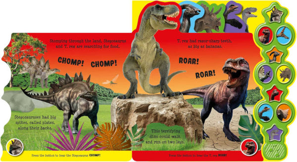 Kids/Children AWESOME DINOSAURS 10 button Sound book Hardback Ages 0+ New!!! - Children Store Co.