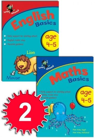 Leap ahead Maths and English Basics ages 4-5, (2 books) - Children Store Co.