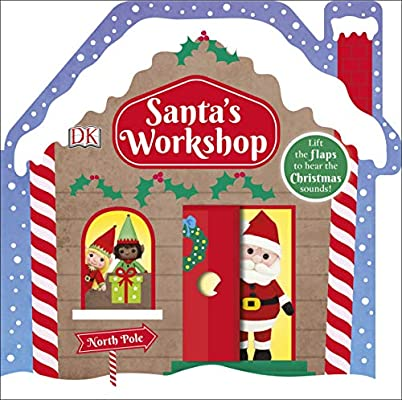 Kids Christmas Santa's Workshop Lift the flap sound book Hardback New!!!! - Children Store Co.