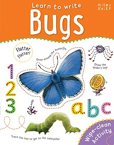 Learn to Write Bugs (Wipe Clean book) PEN INCLUDED!