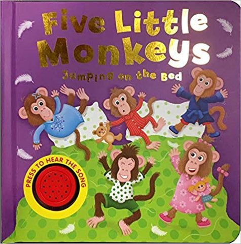 Kids/Baby sound book 5 Little Monkeys HARDBACK New!!!!