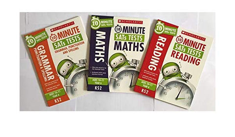 Scholastic 10 Minute SATs Test Ages 10-11 Yrs (3 books set)