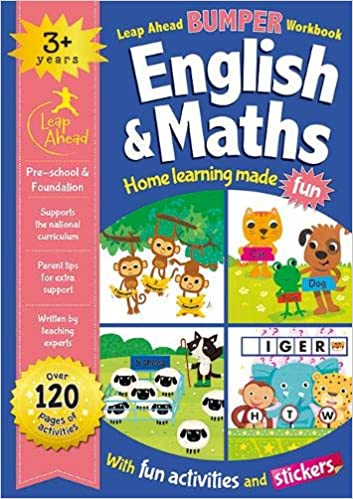 Leap ahead Maths and English Bumper Workbook Ages 3-5 - Children Store Co.