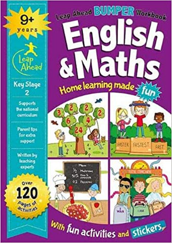 Leap ahead Maths and English Bumper Workbook KS2 Ages 9-11 - Children Store Co.
