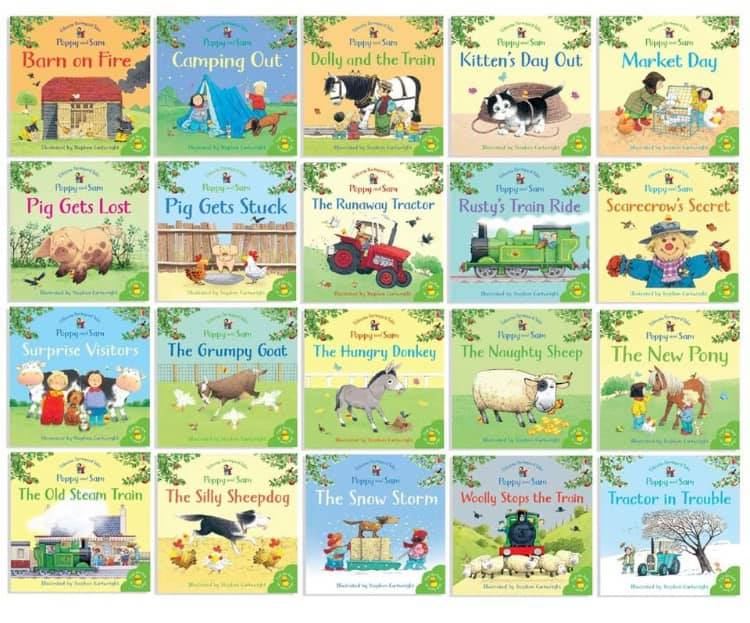 Kids/Children Usborne Farmyard Tales Poppy & Sam 20 books set Paperback Slip Case!!! - Children Store Co.