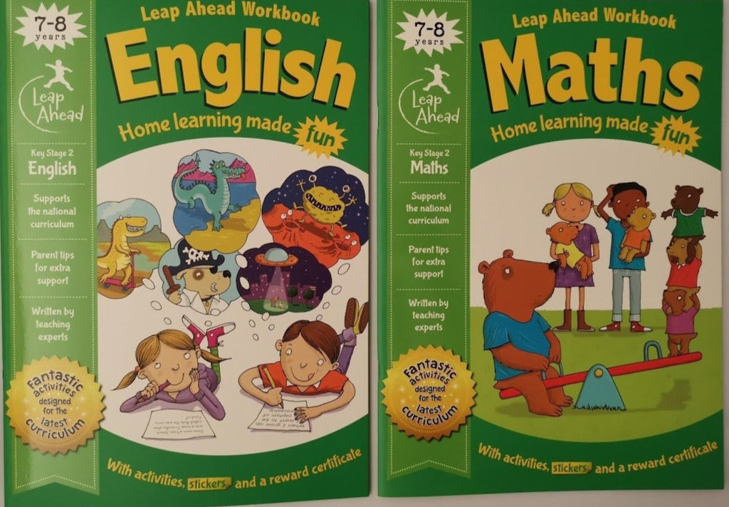 Leap ahead Maths and English ages 7-8 - Children Store Co.