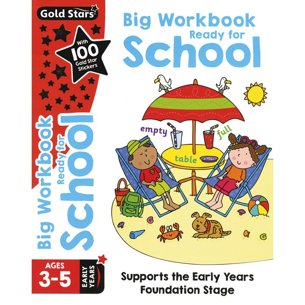 Pre School /Reception Goldstars Ready for School Big Workbook Ages 3-5 Paperback New!!!!!! - Children Store Co.