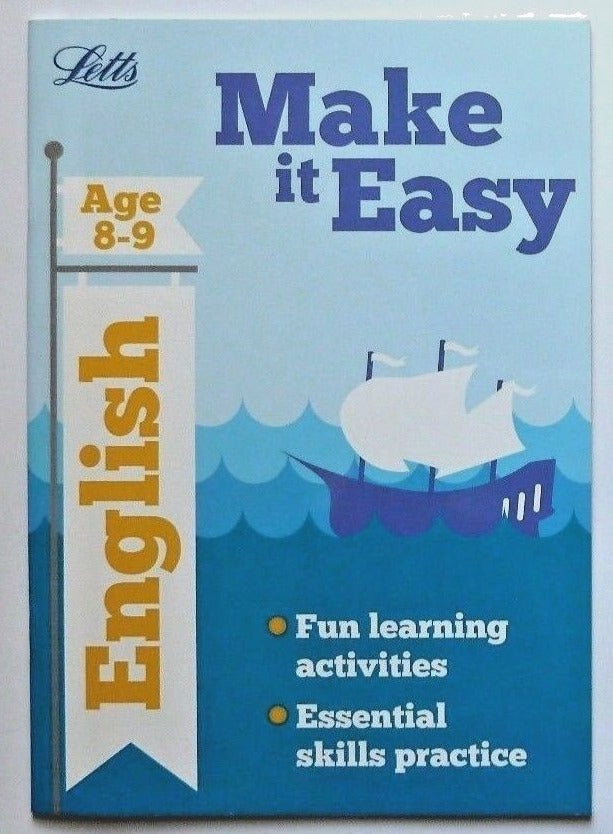 Letts Make it Easy English & Maths Ages 8-9 yrs (set of 2 workbooks) NEW - Children Store Co.