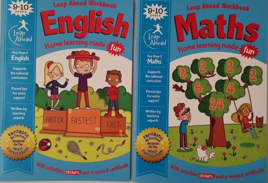 Leap ahead Maths and English KS2 Ages 9-10 (2 Books Set) - Children Store Co.