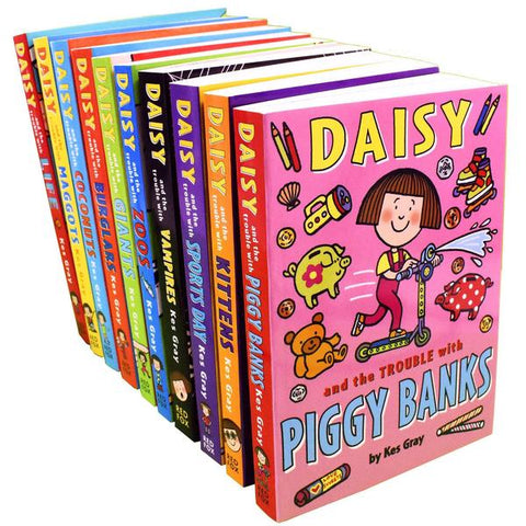 Kids/Children Daisy & The Trouble With Kittens 10 Books - Ages 9-14 - Paperback - Kes Gray RED FOX - Children Store Co.