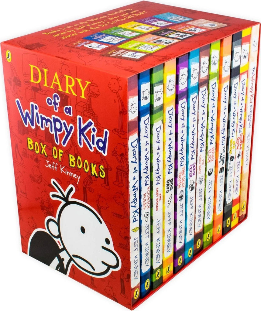 Diary of a Wimpy Kid Box of Books 12 Book Collection - Ages 9-14 - Paperback - Jeff Kinney - Children Store Co.