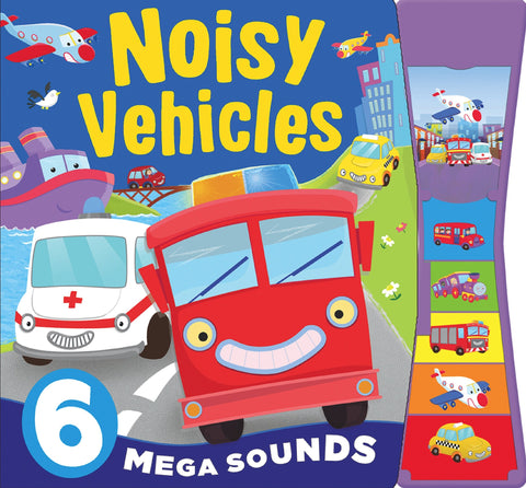 Kids/Baby Noisy Vehicles 6 button sound book Hardback (NEW)!!! - Children Store Co.