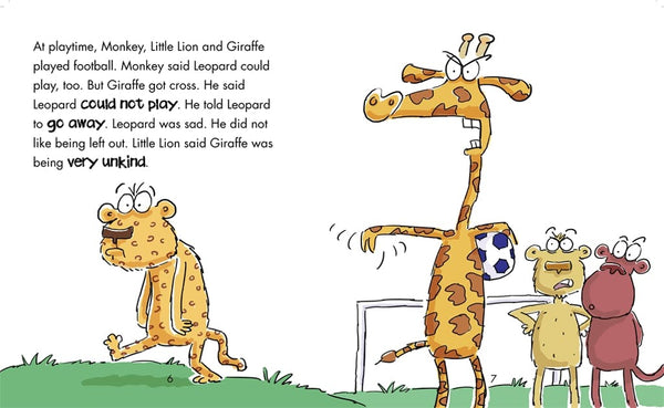 Behaviour Matters: Giraffe Is Left Out - A book about feeling bullied - Children Store Co.