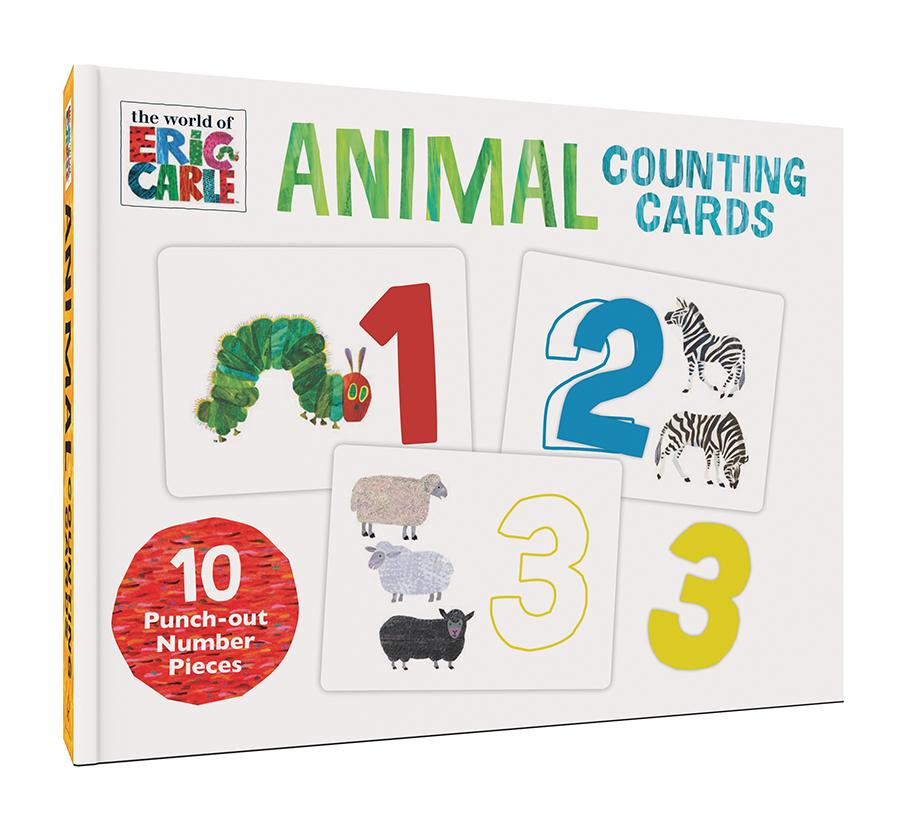 the world of ERIC CARLE Animal Counting Cards for Pre School / Home Learning - Children Store Co.