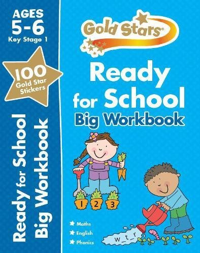 Kids/Children Goldstar Ready for School Big Workbook KS1 Ages 5-6 paperback New!!! - Children Store Co.