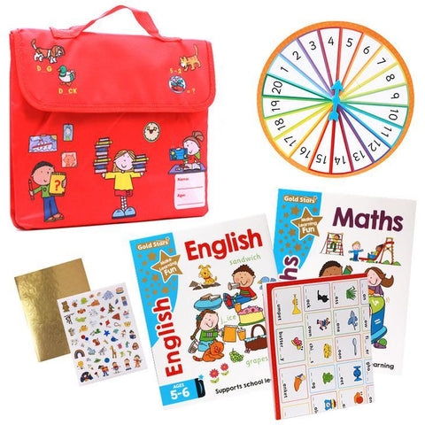 Chad Valley English & Maths Learning Bag Ages 5-6 (Set of 2 books) NEW EDITION - Children Store Co.