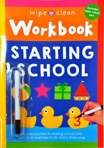 Wipe clean Starting School workbook New!!!! - Children Store Co.
