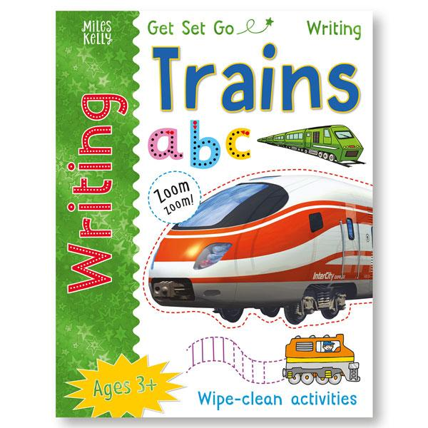 Get Set GO Writing Trains Wipe Clean book Pen Included - Children Store Co.
