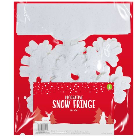 Glittered Snow Fringe (Snow Flake)- 2 Pack - Children Store Co.