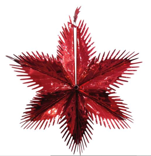 Christmas Red Metallic Foil Starburst 60cm - Children Store Co.