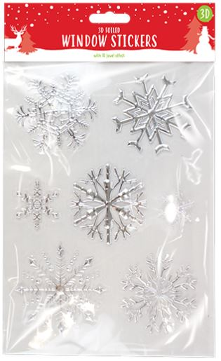 Christmas Foiled Snowflake Window Stickers - Children Store Co.