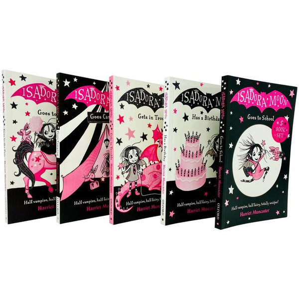 Isadora Moon 5 Book Collection - Ages 5-7 - Paperback - Harriet Muncaster Paperback New!!! - Children Store Co.